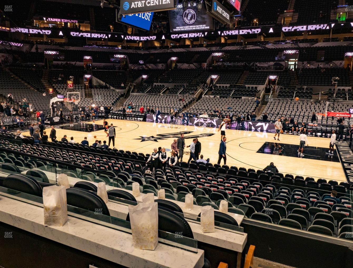 San Antonio Spurs at AT&T Center Super Box 2 B View