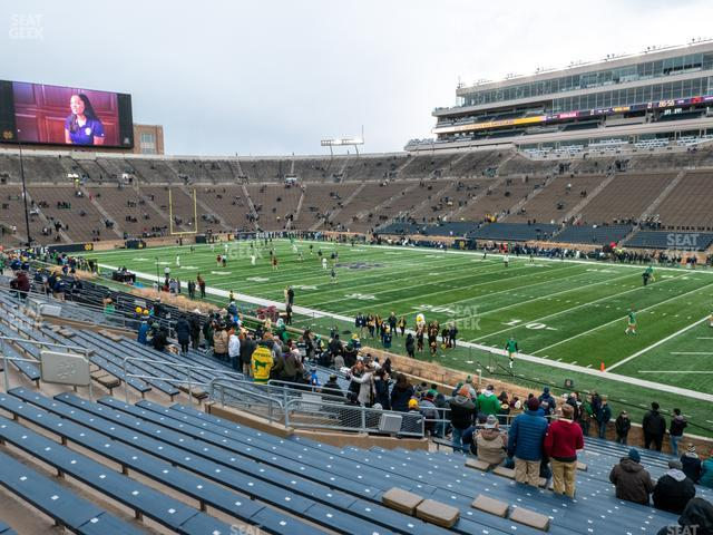 Notre Dame Stadium Section 6 view