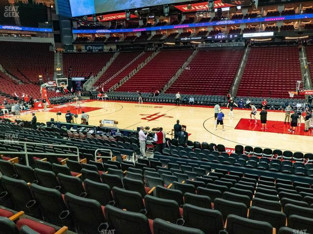 Toyota Center Section 119 view