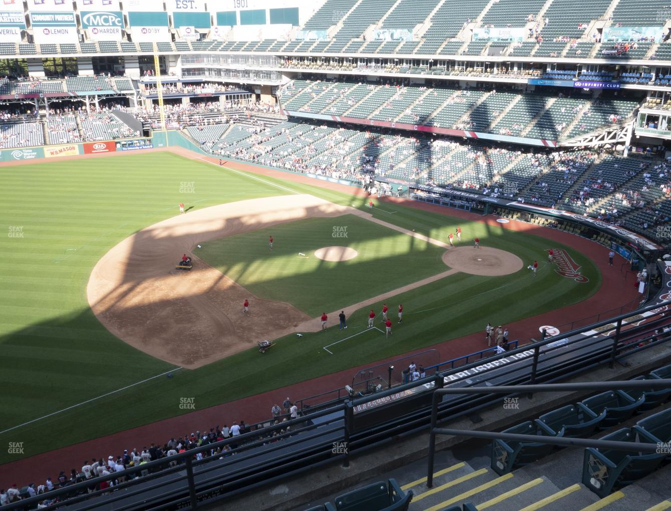 Cleveland Indians at Progressive Field Section 468 View
