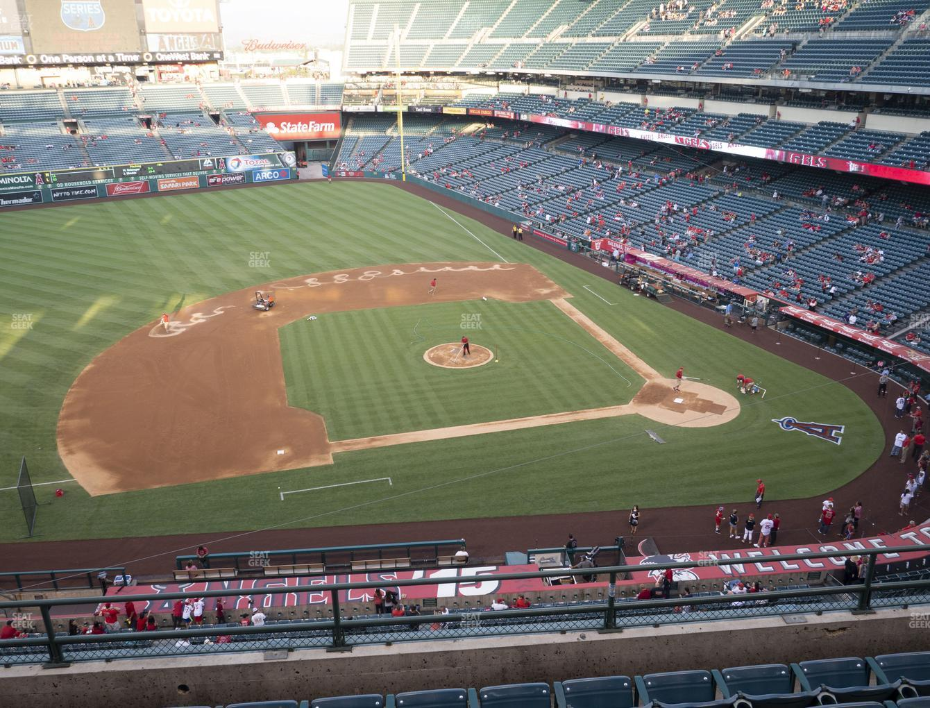 Los Angeles Angels at Angel Stadium of Anaheim Section 412 View