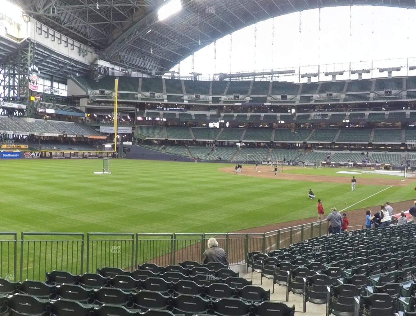 Milwaukee Brewers at Miller Park Section 130 View