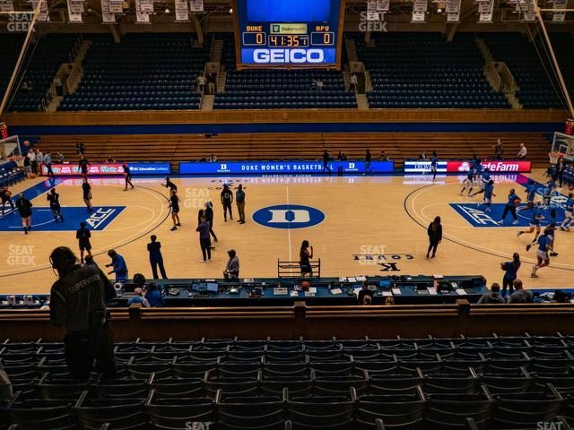 Cameron Indoor Stadium Section 6 view