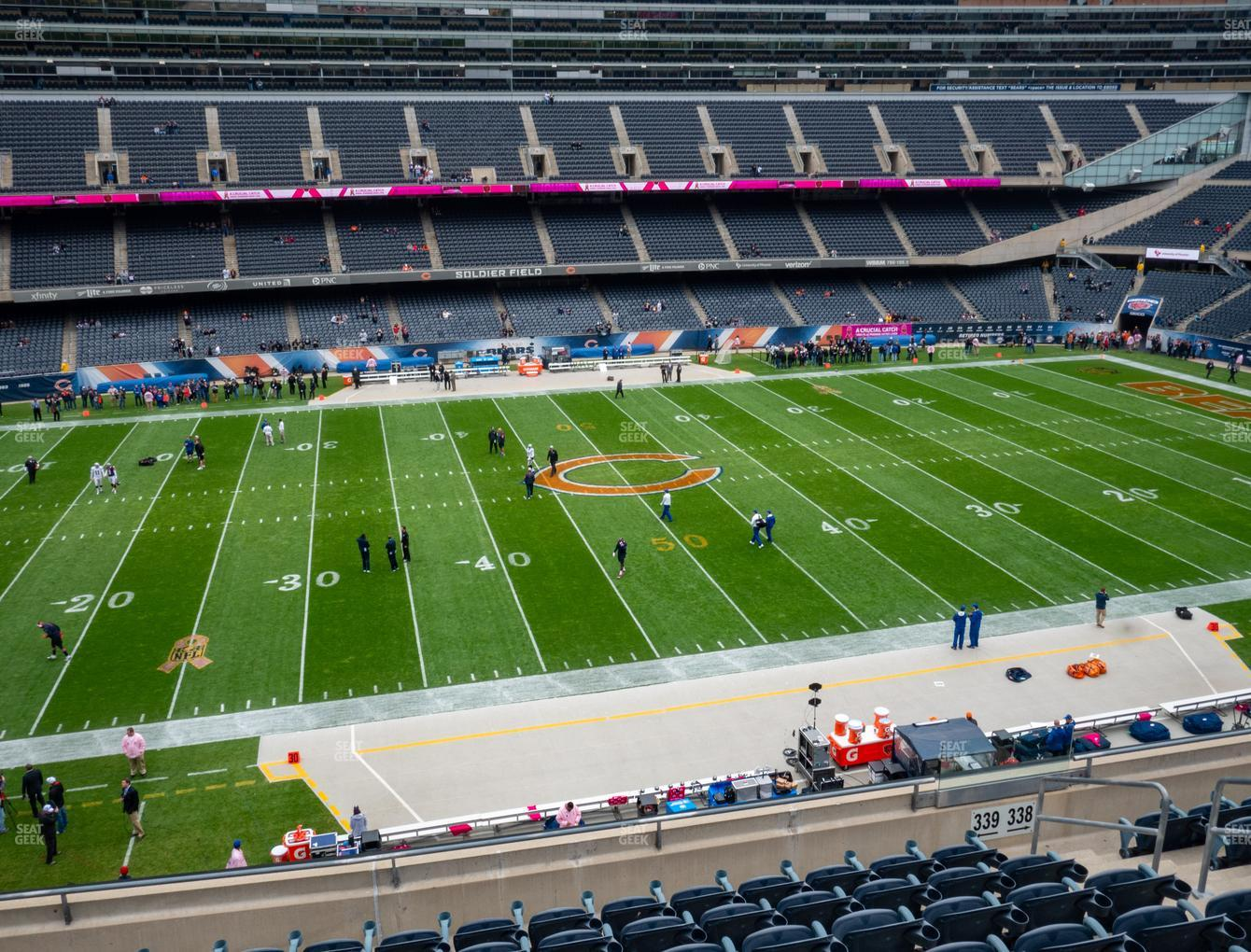 Chicago Bears at Soldier Field Section 339 View