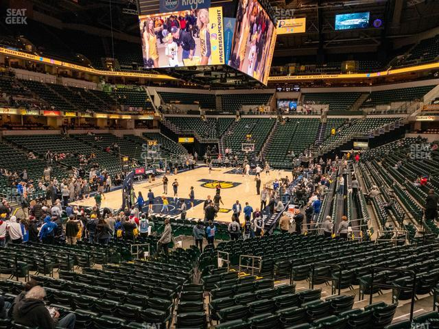 Bankers Life Fieldhouse Section 110 view