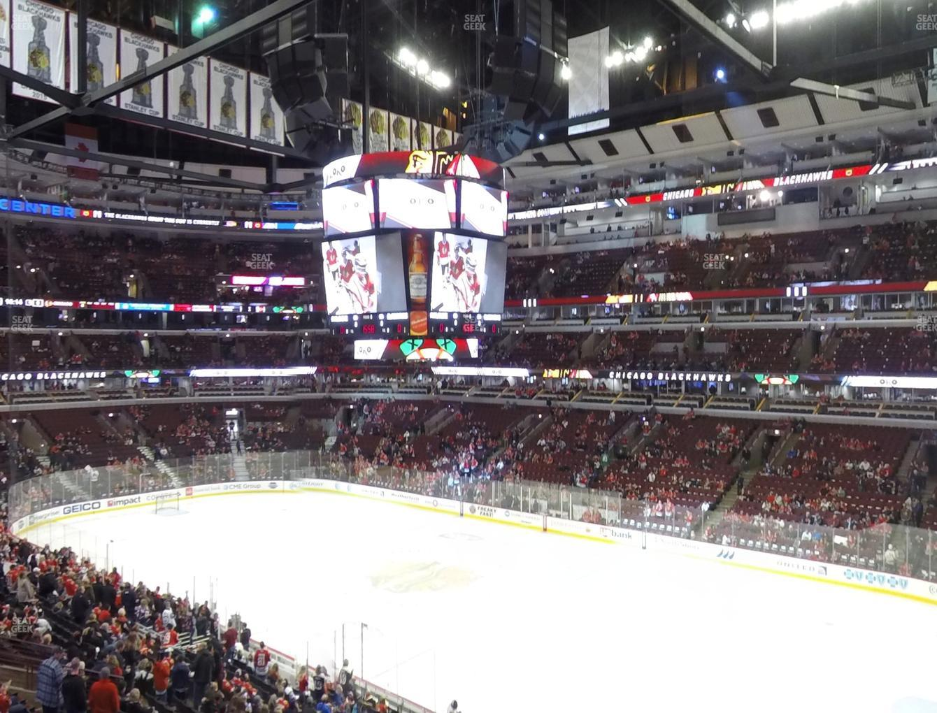 Chicago Blackhawks at United Center Section 231 View