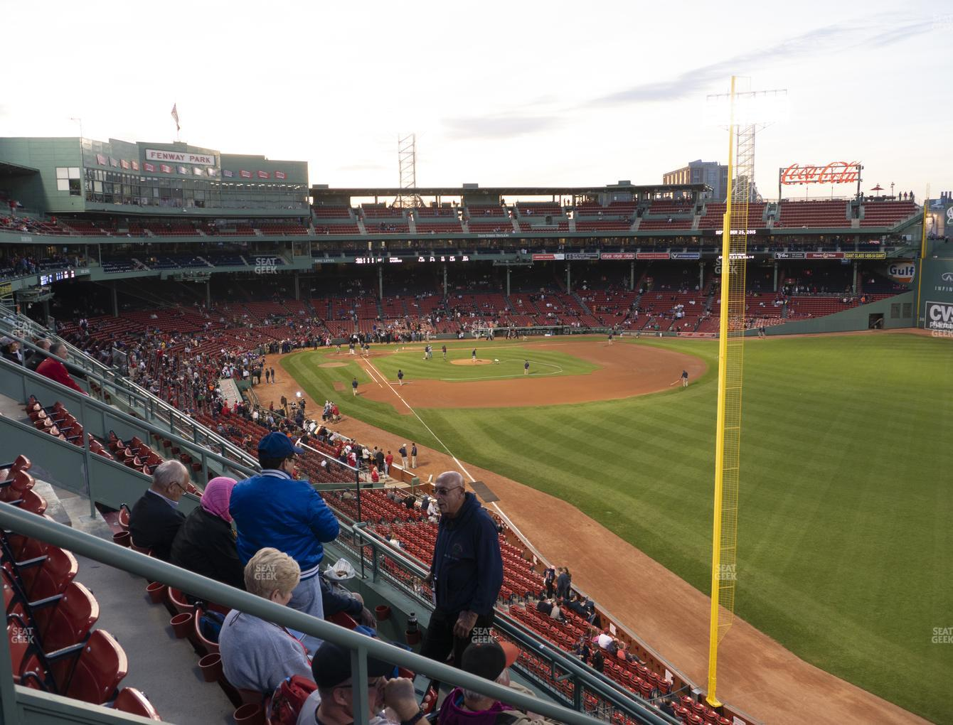 Boston Red Sox at Fenway Park Right Field Roof Box 37 View