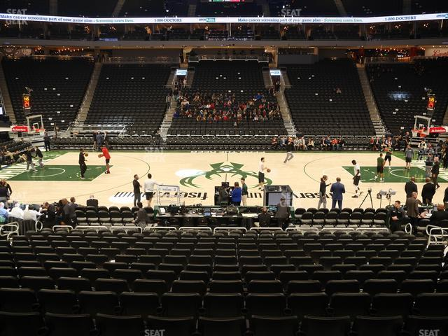 Fiserv Forum Section 117 view