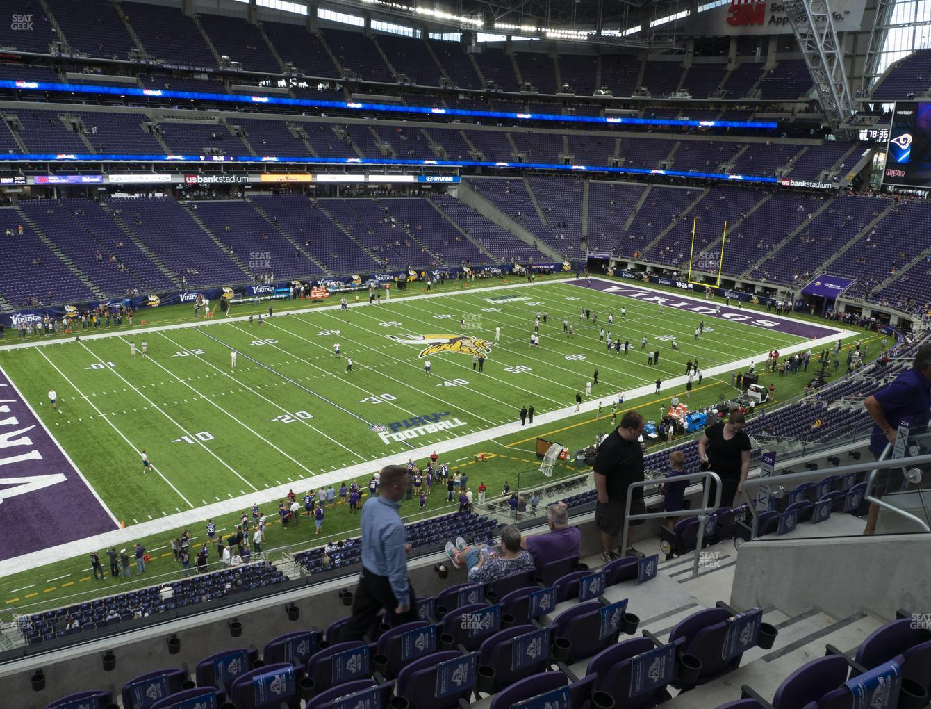 Minnesota Vikings at U.S. Bank Stadium Section 239 View