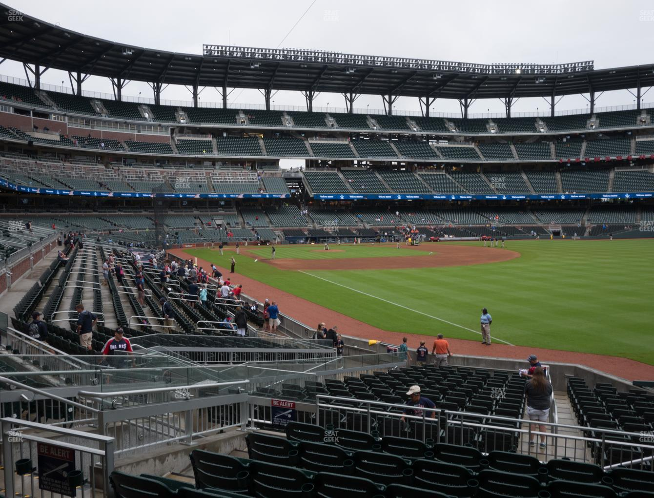 Atlanta Braves at SunTrust Park Section 112 View