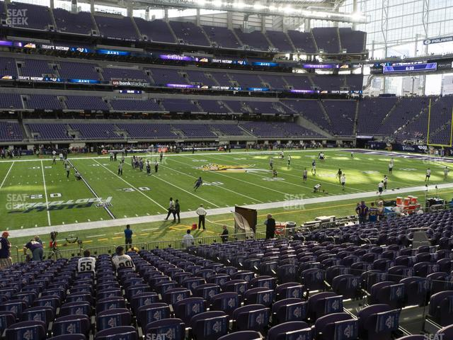 U.S. Bank Stadium Section 111 view
