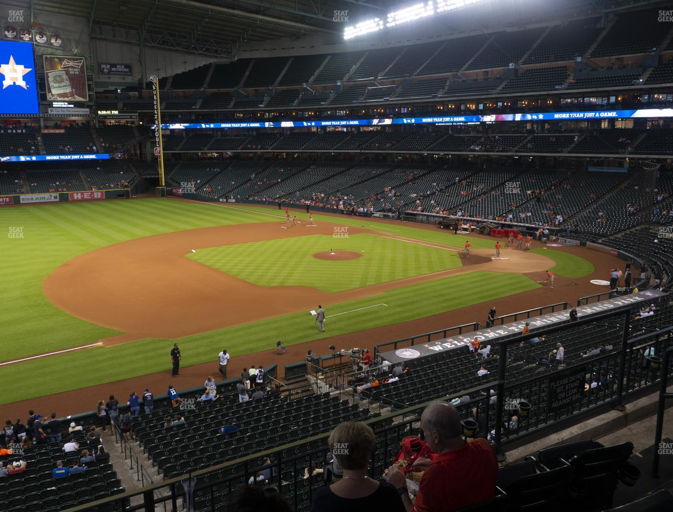 Houston Astros at Minute Maid Park Section 210 View