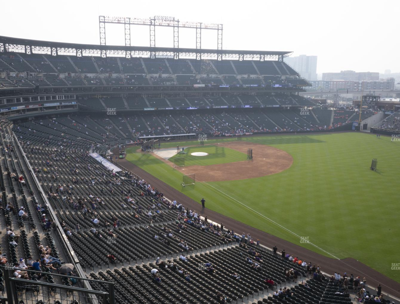 Colorado Rockies at Coors Field Lower 313 View