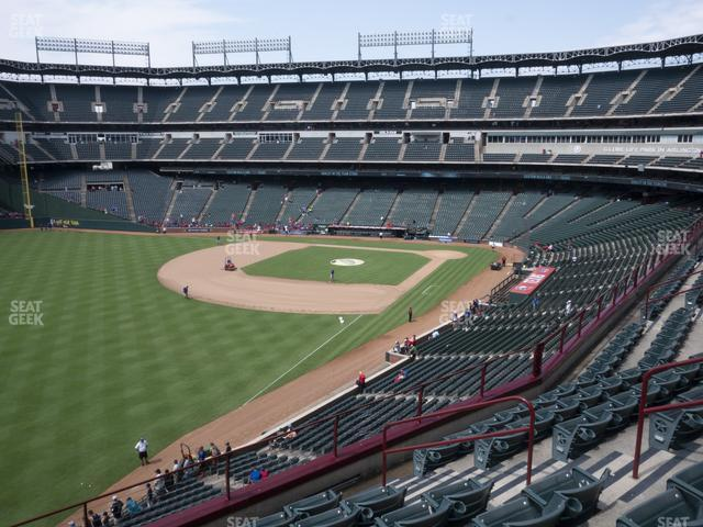 Globe Life Park Section 211 view