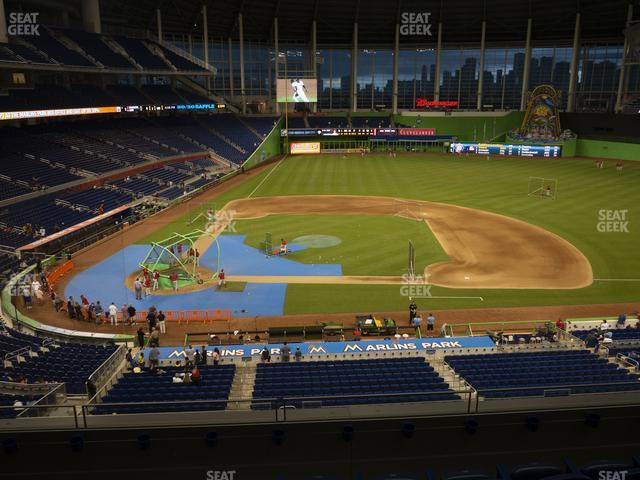 Marlins Park Section 210 view
