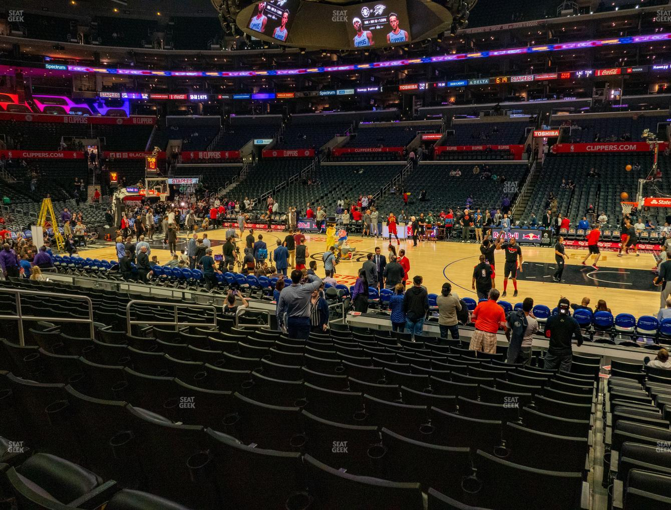 Los Angeles Lakers at Staples Center Section 110 View
