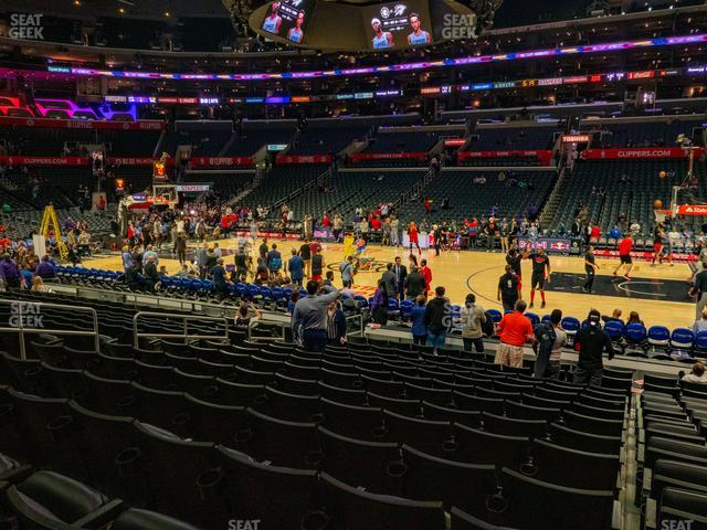 Staples Center Section 110 view