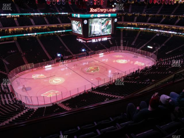 Xcel Energy Center Section 207 view