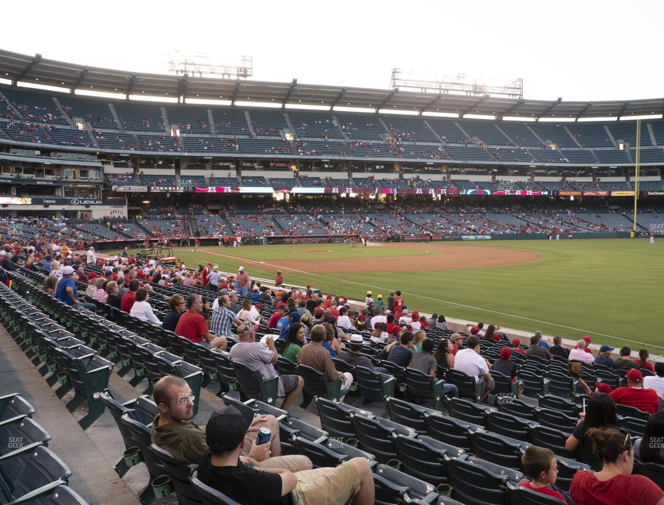 Los Angeles Angels at Angel Stadium of Anaheim Section 129 View