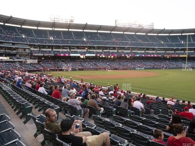Angel Stadium of Anaheim Section 129 view