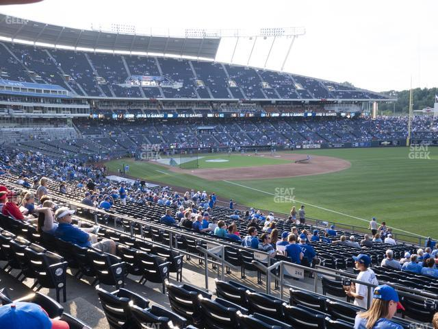 Kauffman Stadium Section 244 view