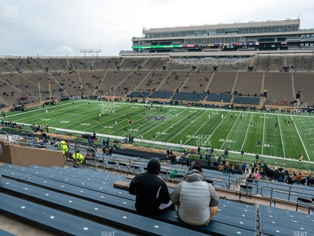 Notre Dame Stadium Section 108 view