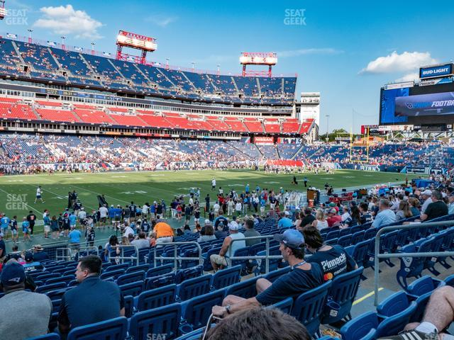 Nissan Stadium Section 139 view
