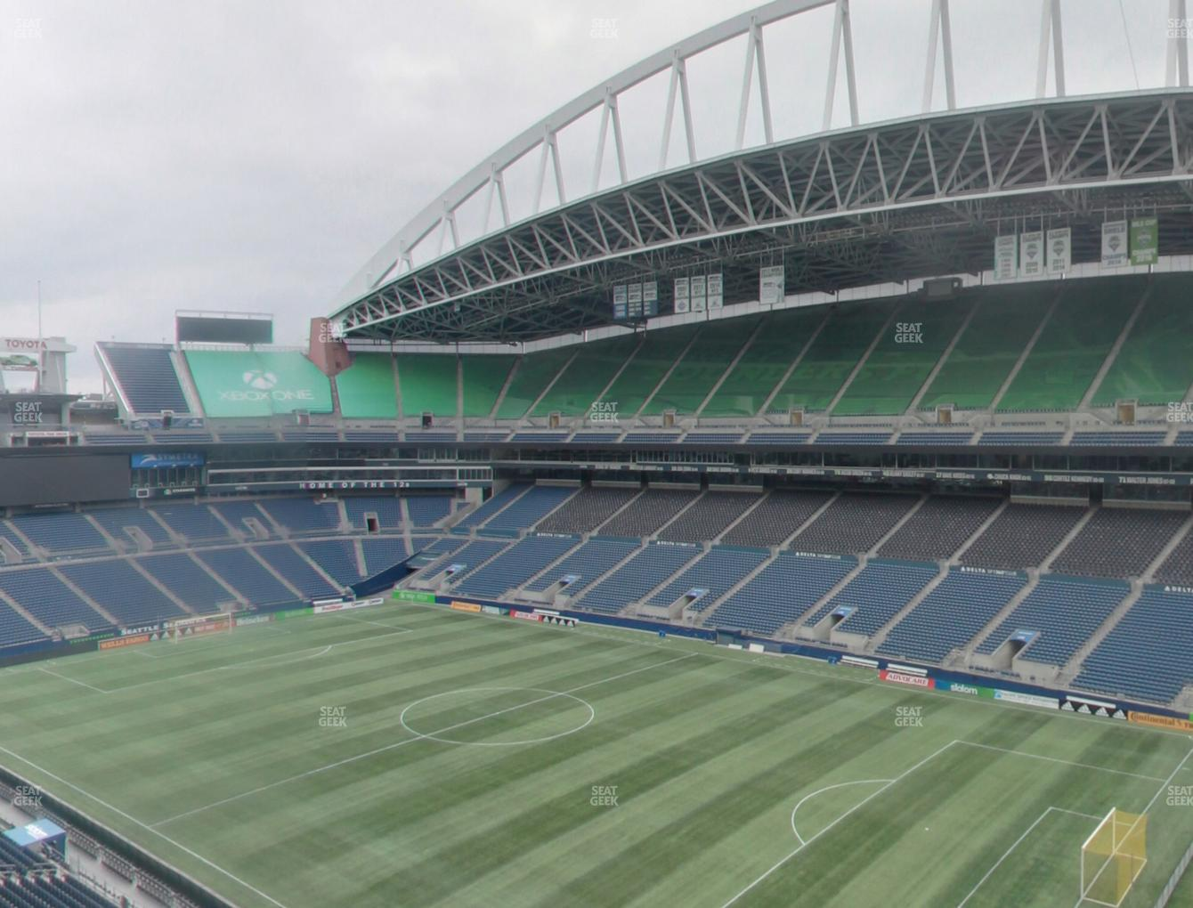 Seattle Sounders FC at CenturyLink Field Lower 303 View
