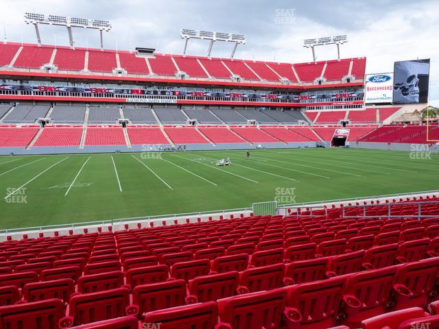Raymond James Stadium Section 135 view