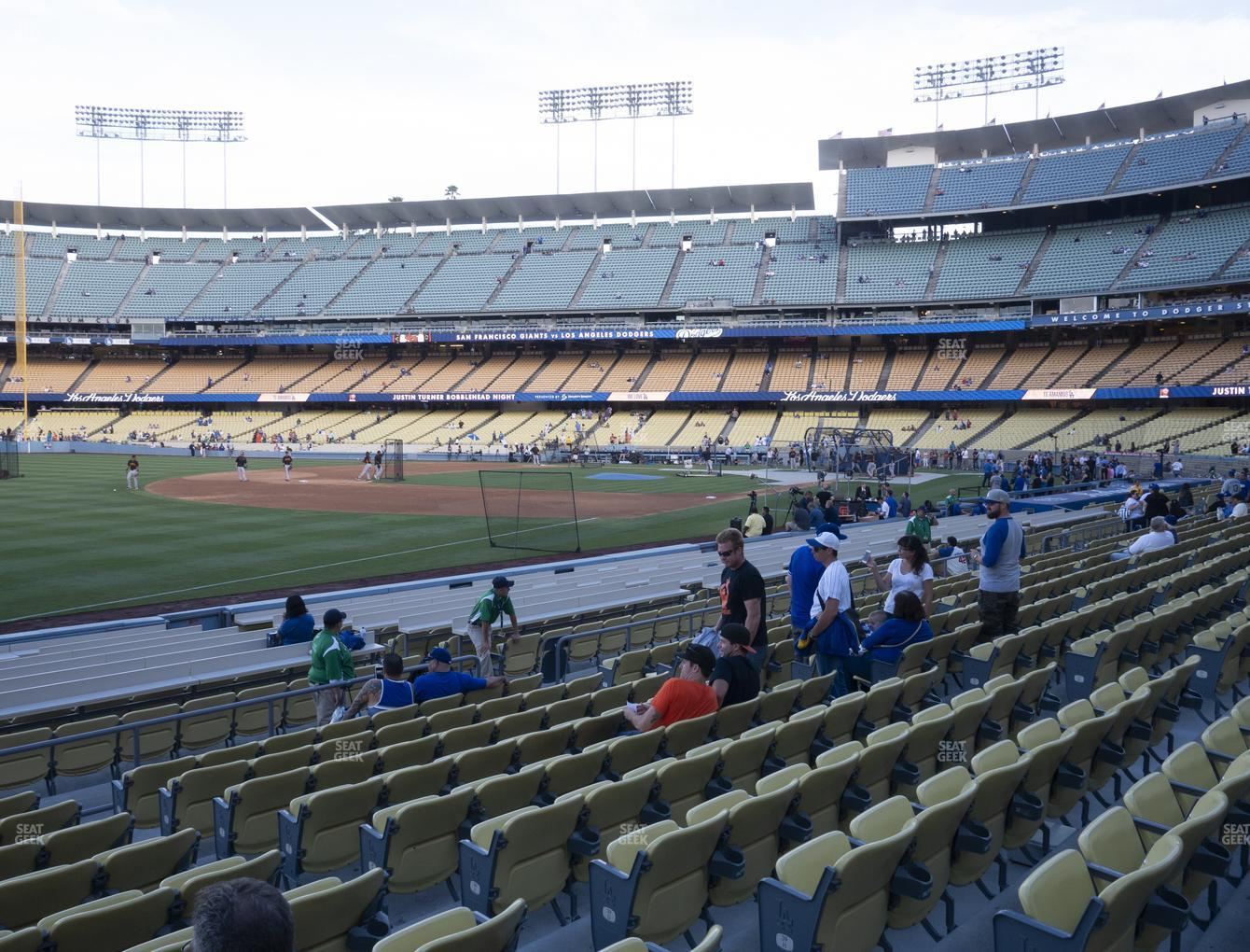 Los Angeles Dodgers at Dodger Stadium Field Box 41 View