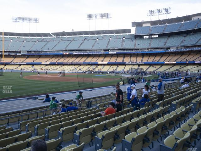 Dodger Stadium Field Box 41 view