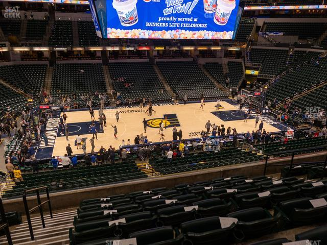 Bankers Life Fieldhouse Section 105 view