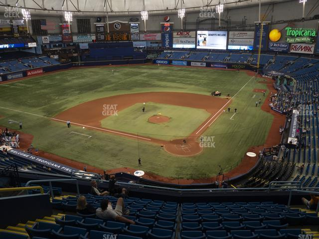 Tropicana Field Section 303 view