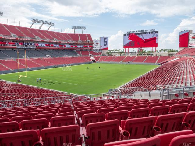 Raymond James Stadium Section 202 view
