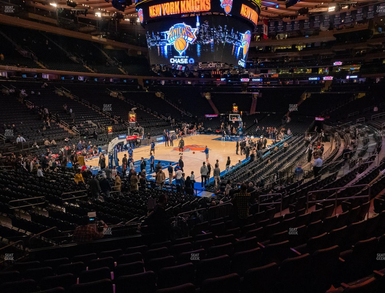 New York Knicks at Madison Square Garden Section 114 View