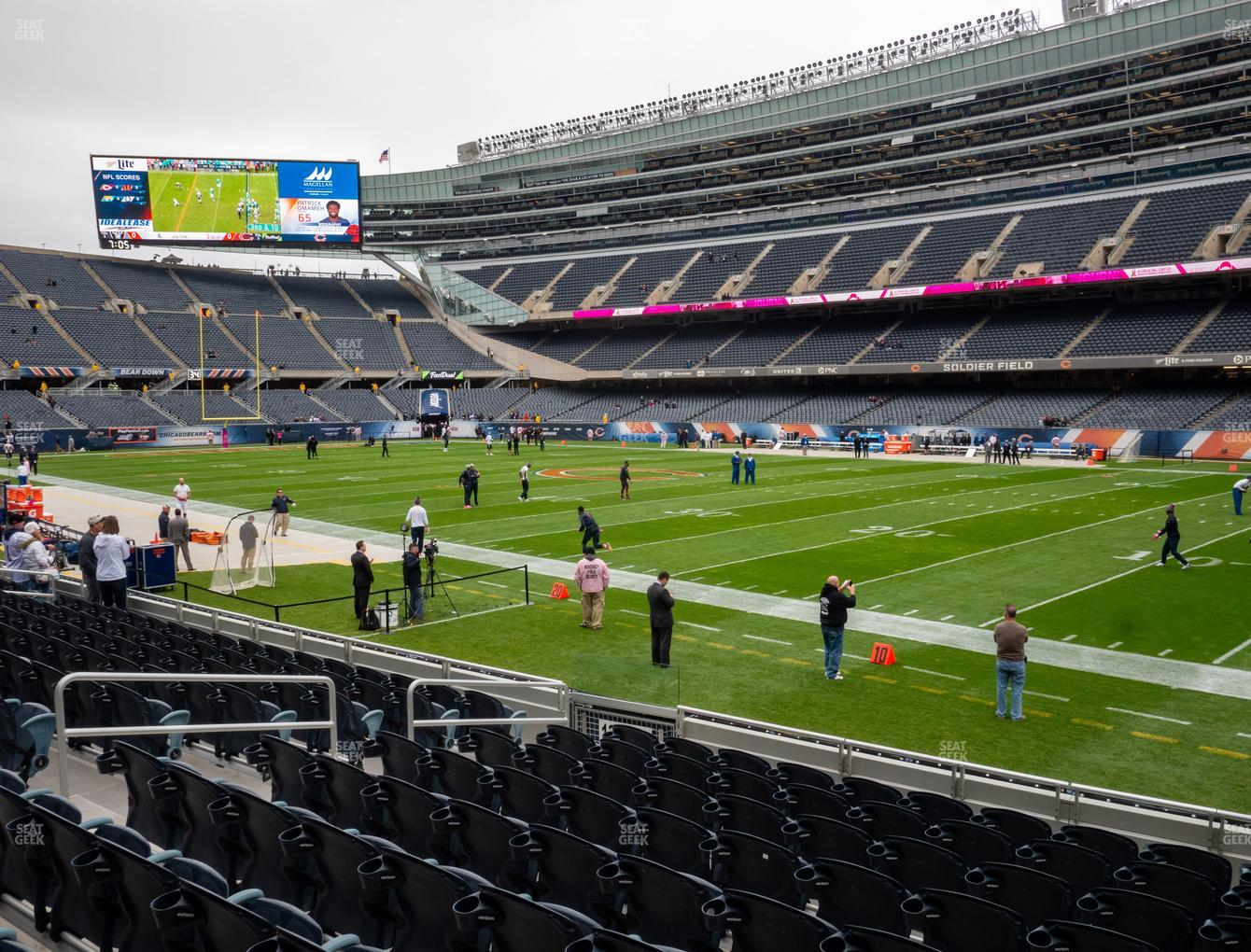 Chicago Bears at Soldier Field Section 131 View