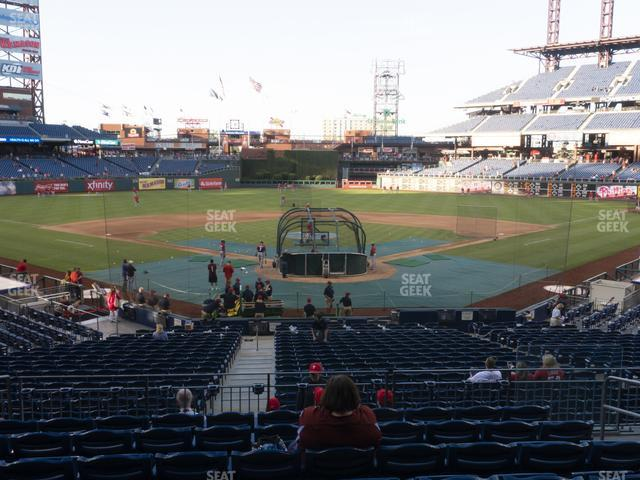 Citizens Bank Park Section 124 view