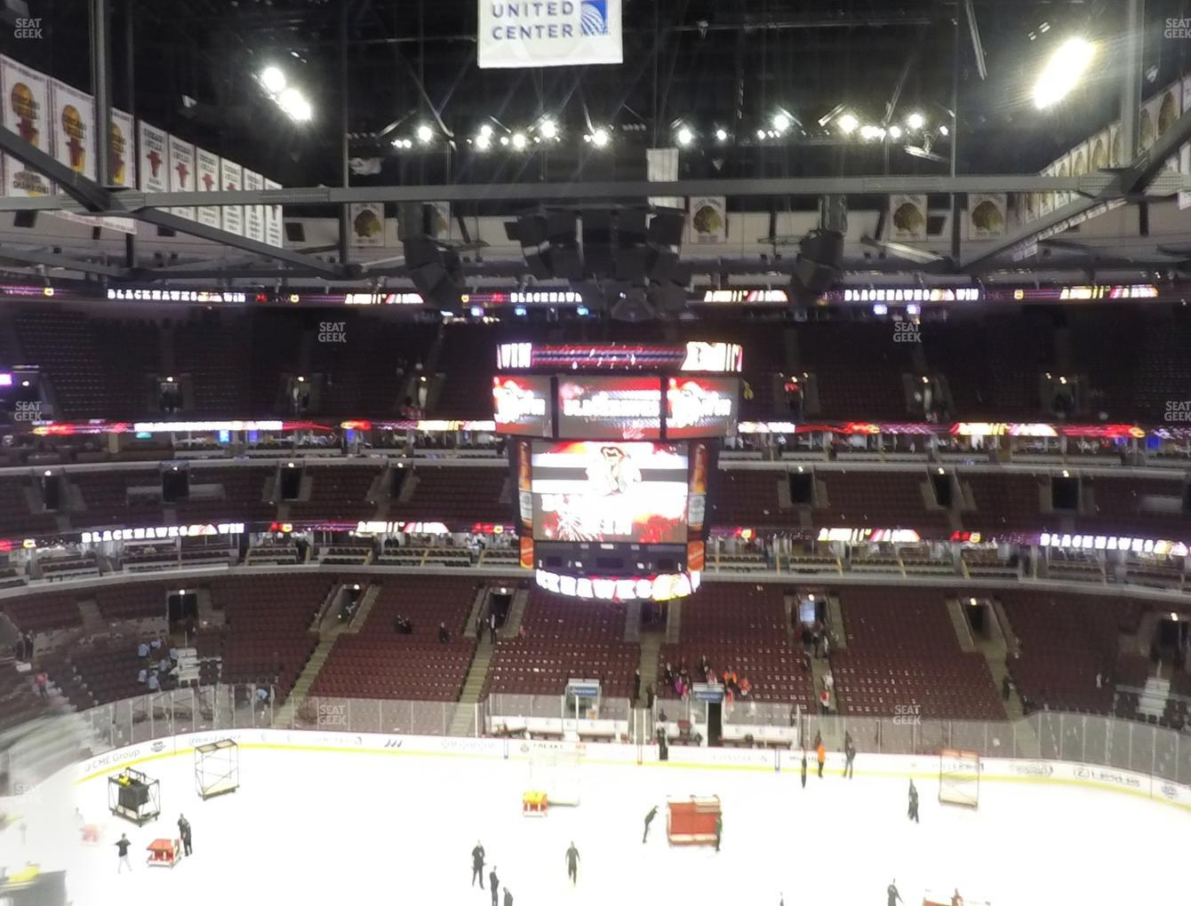 Chicago Blackhawks at United Center Section 317 View