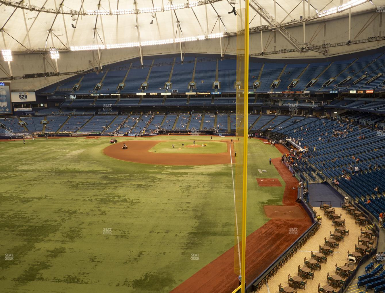 Tampa Bay Rays at Tropicana Field Section 345 View