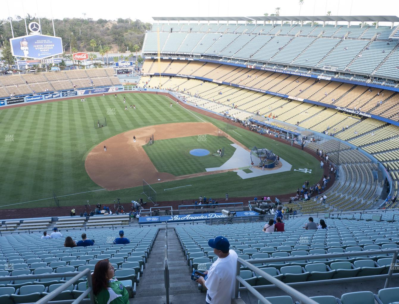 Los Angeles Dodgers at Dodger Stadium Reserve 21 View