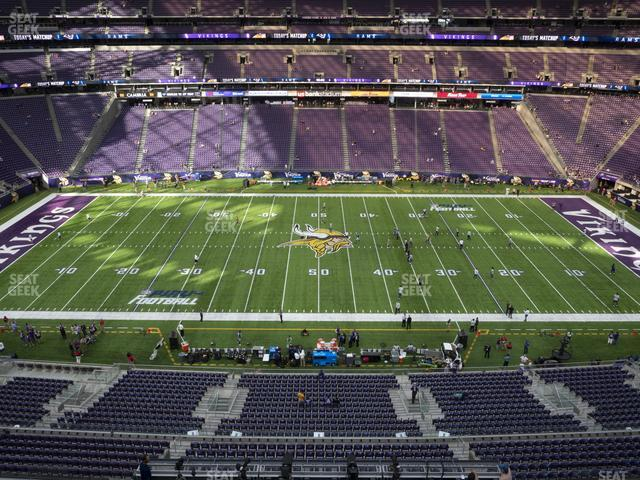 U.S. Bank Stadium Section 341 view