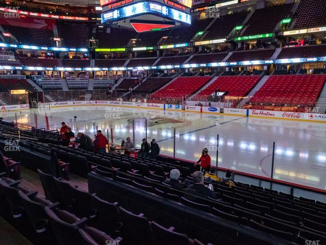 Canadian Tire Centre Section 104 view