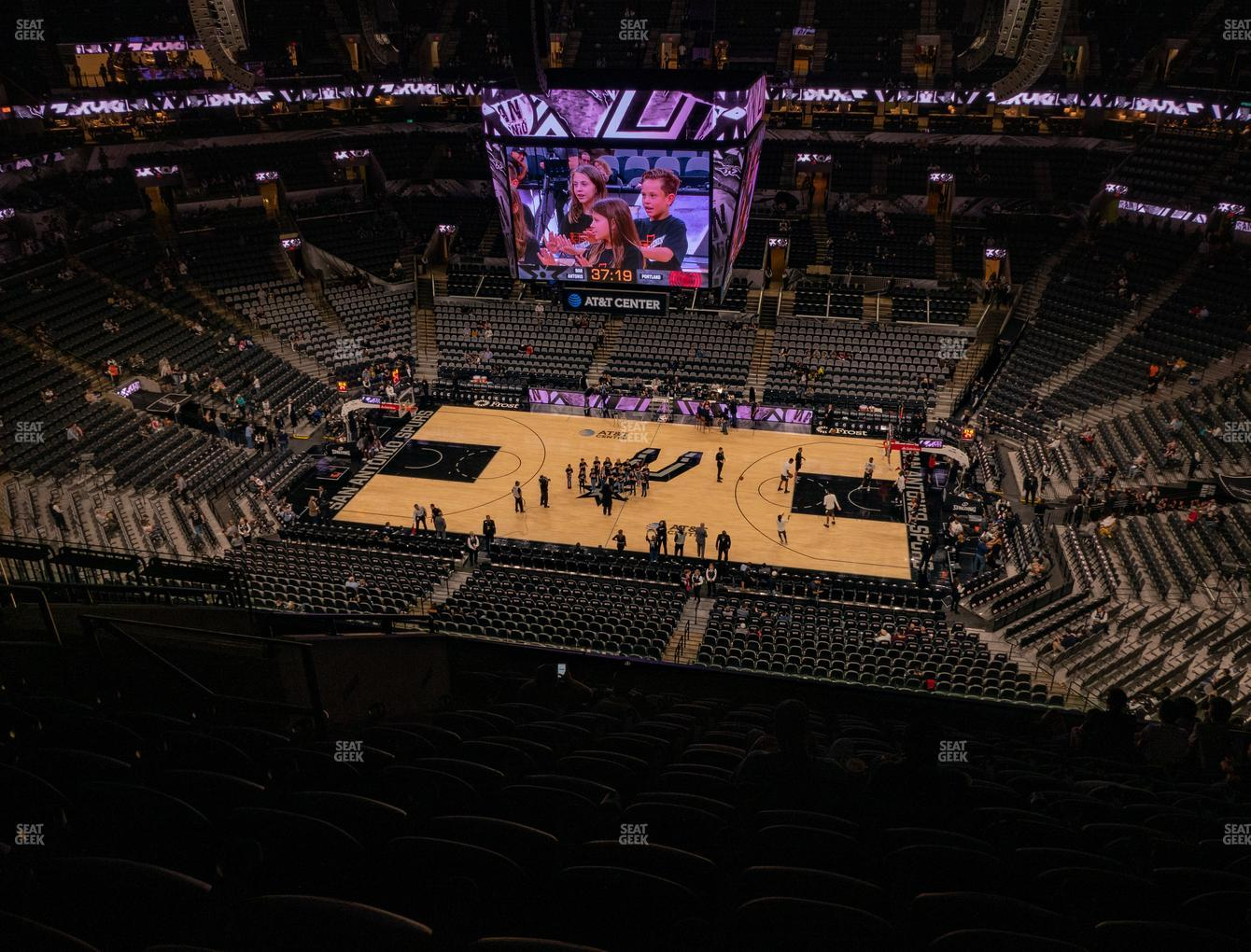San Antonio Spurs at AT&T Center Section 223 View