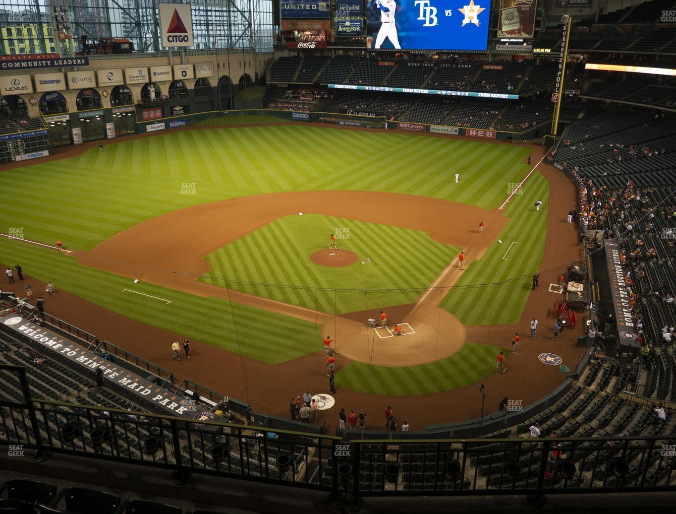Houston Astros at Minute Maid Park Section 317 View