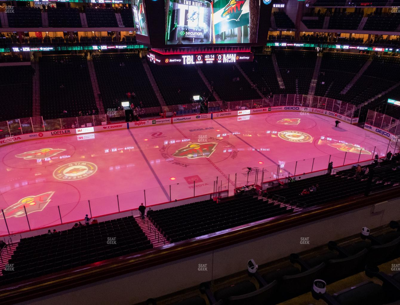 Minnesota Wild at Xcel Energy Center Section Club 8 View