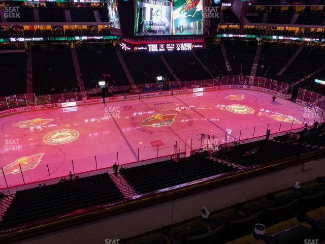 Xcel Energy Center Section Club 8 view