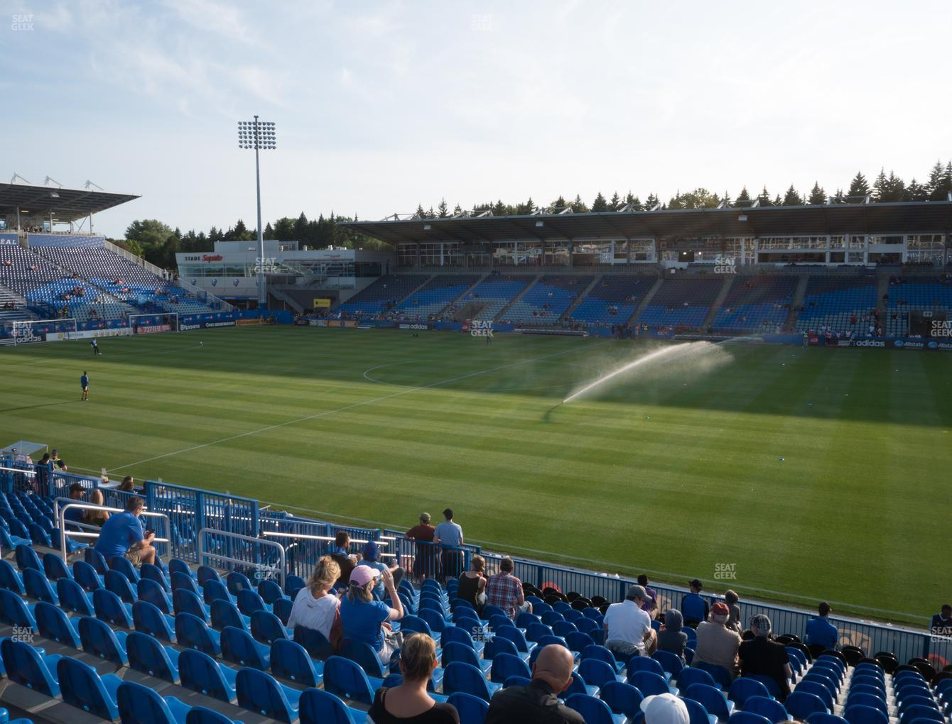 Montreal Impact at Saputo Stadium Section 121 View