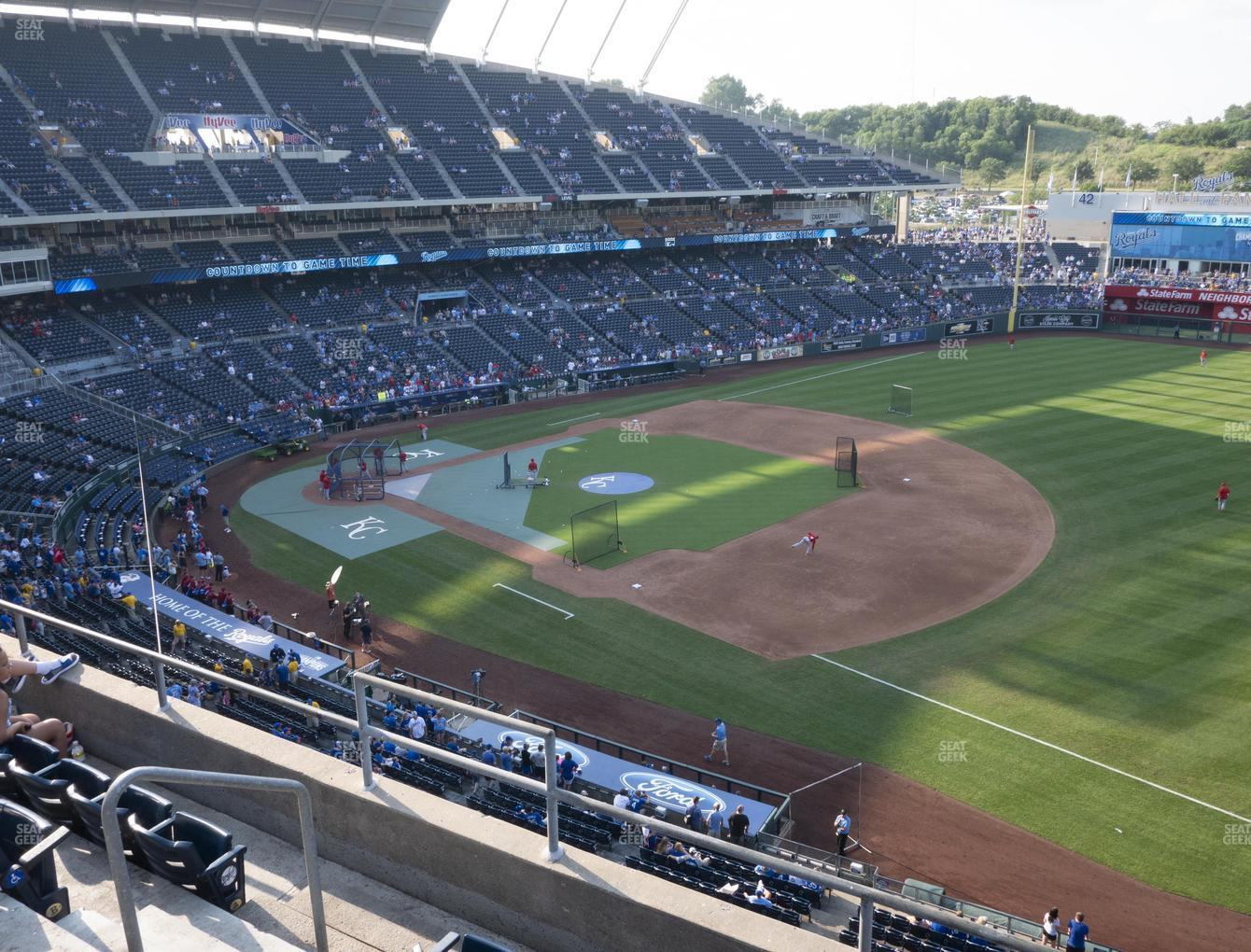 Kansas City Royals at Kauffman Stadium Section 434 View