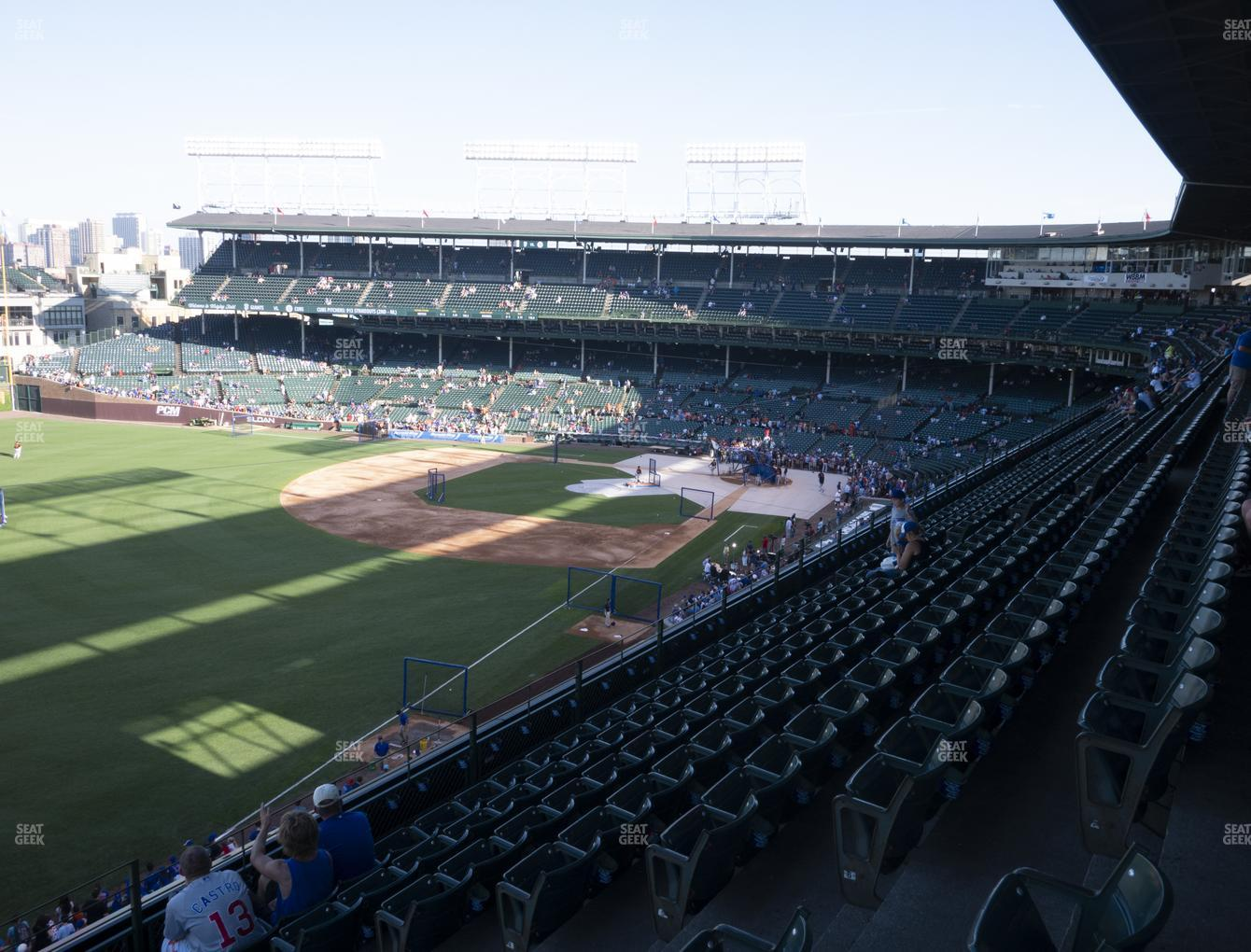 Chicago Cubs at Wrigley Field Section 303 Left View