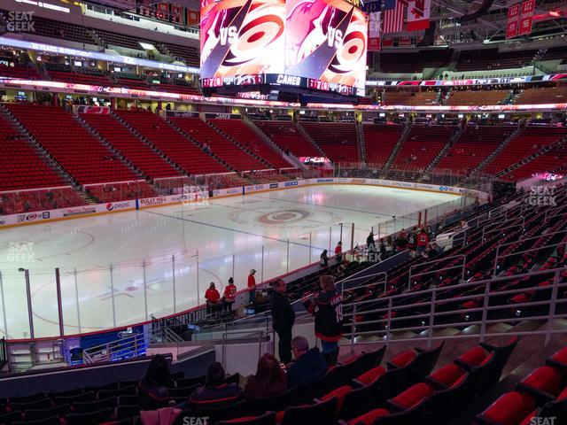 PNC Arena Section 108 view